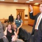 Members of the Class of 2011 meeting Representative Ryan Williams